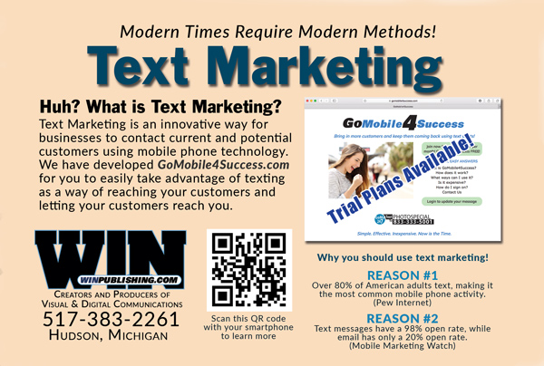Simple Text Marketing Plan for Small Business